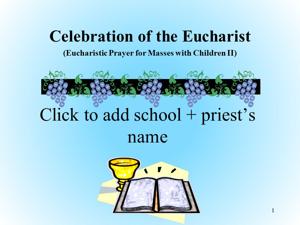 Click to add school + priest's name