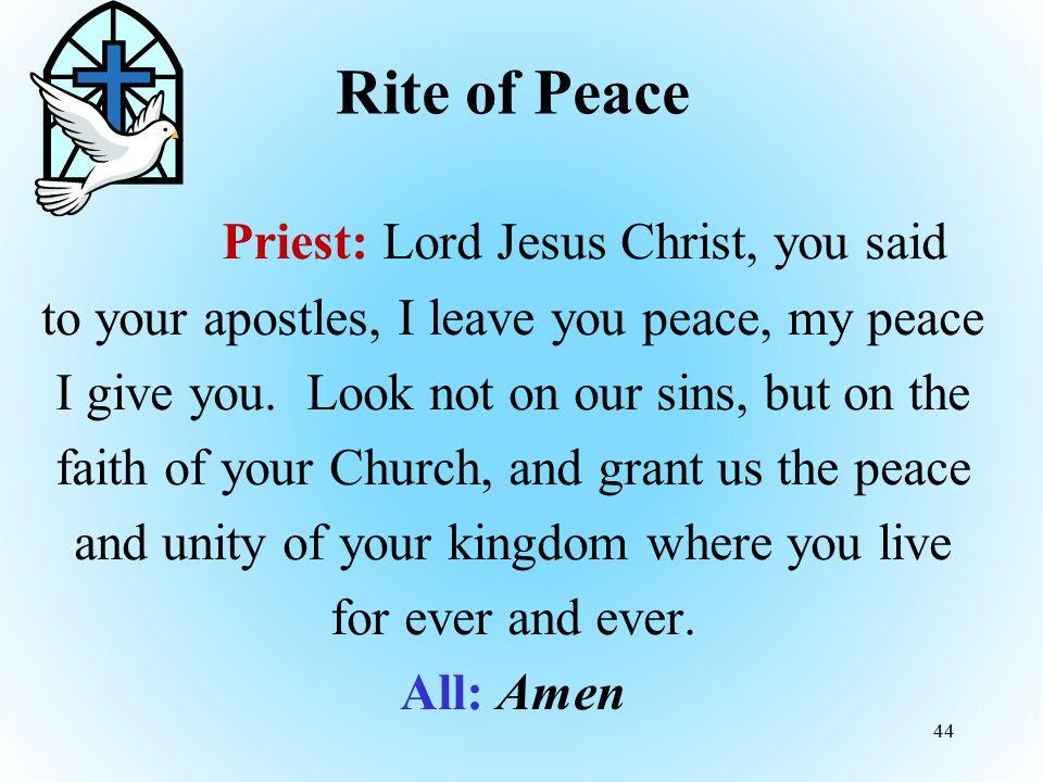 Rite of Peace
