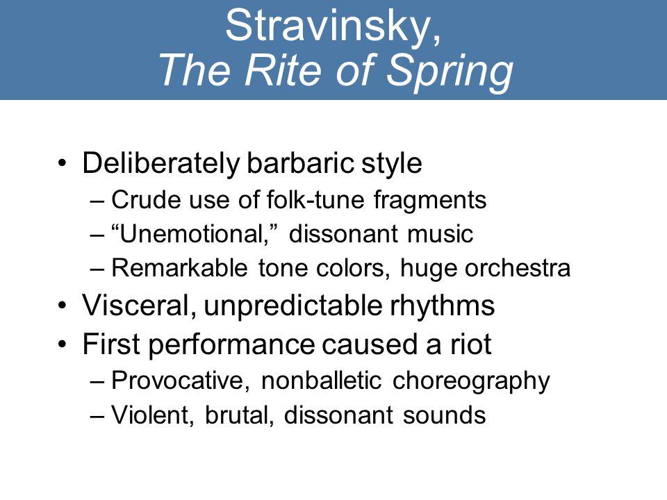 Stravinsky, The Rite of Spring