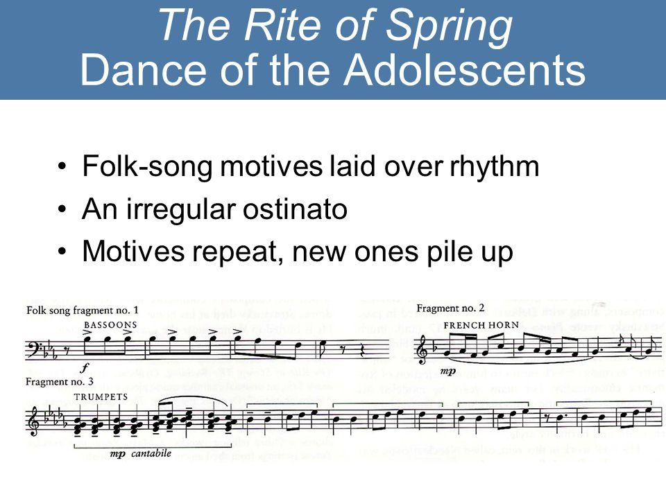 The Rite of Spring Dance of the Adolescents