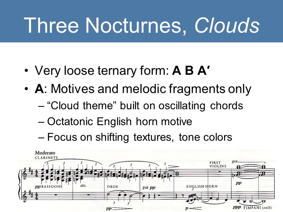 Three Nocturnes, Clouds