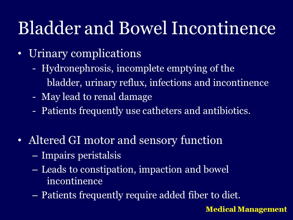 Bladder and Bowel Incontinence