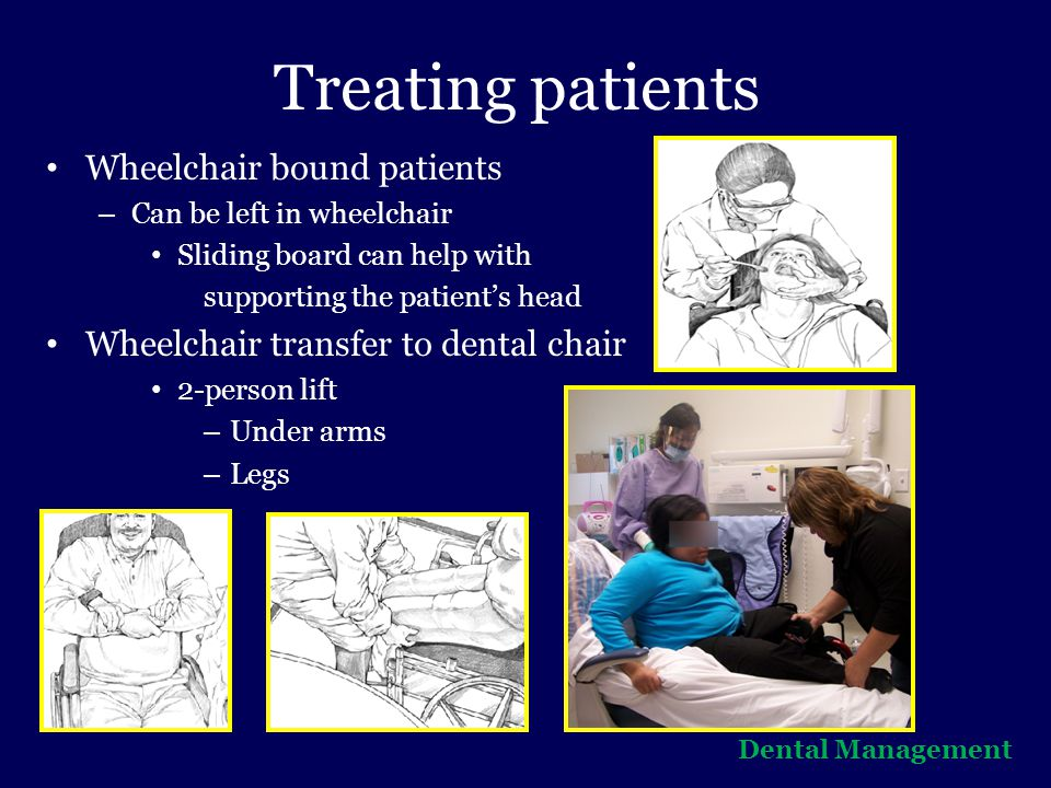 Treating patients Wheelchair bound patients