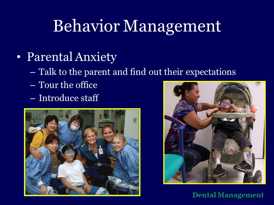 Behavior Management Parental Anxiety