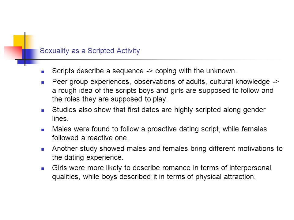 Sexuality as a Scripted Activity
