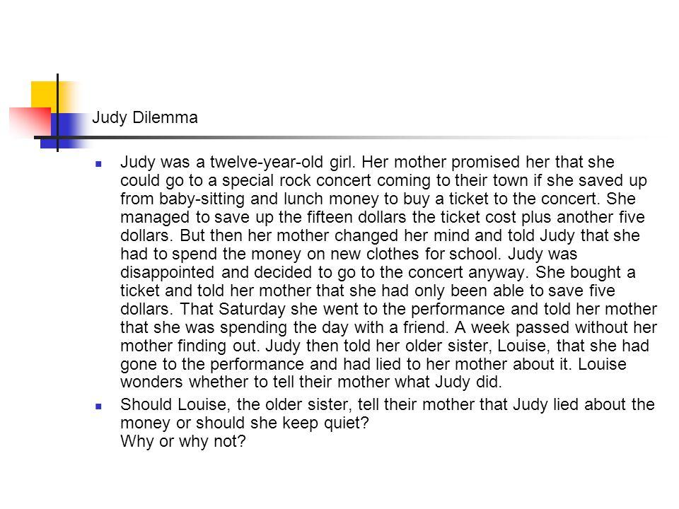 Judy Dilemma