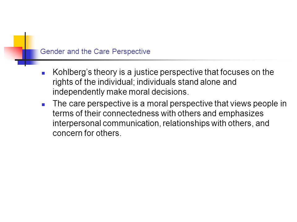 Gender and the Care Perspective