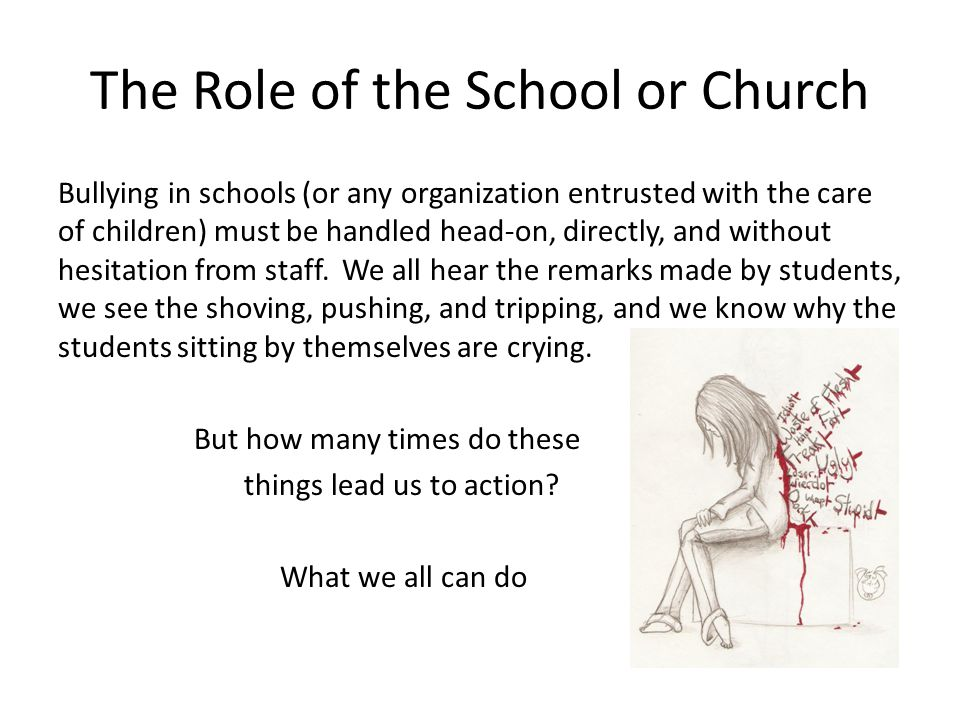 The Role of the School or Church