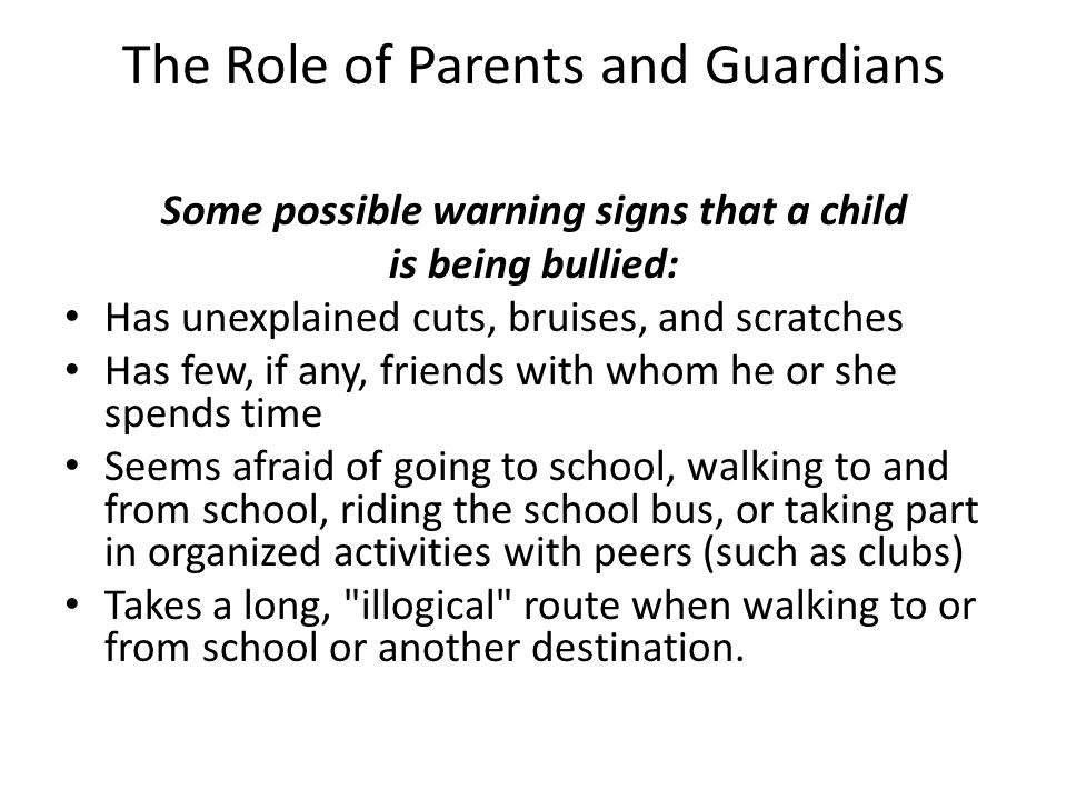 The Role of Parents and Guardians