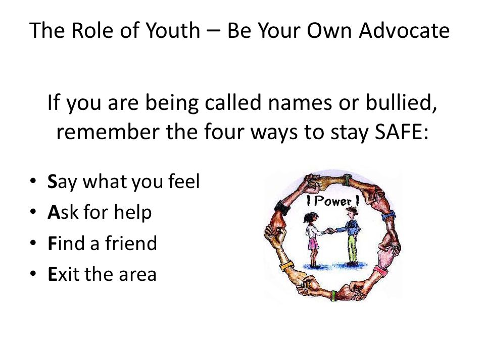 The Role of Youth – Be Your Own Advocate