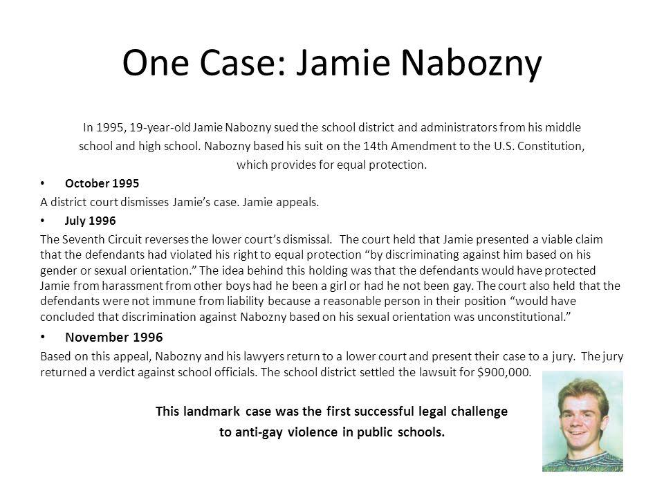 One Case: Jamie Nabozny