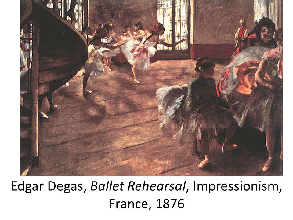 Edgar Degas, Ballet Rehearsal, Impressionism, France, 1876