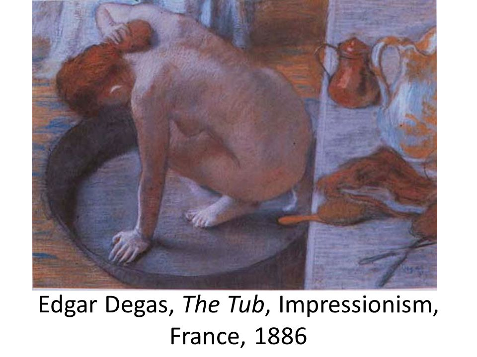 Edgar Degas, The Tub, Impressionism, France, 1886