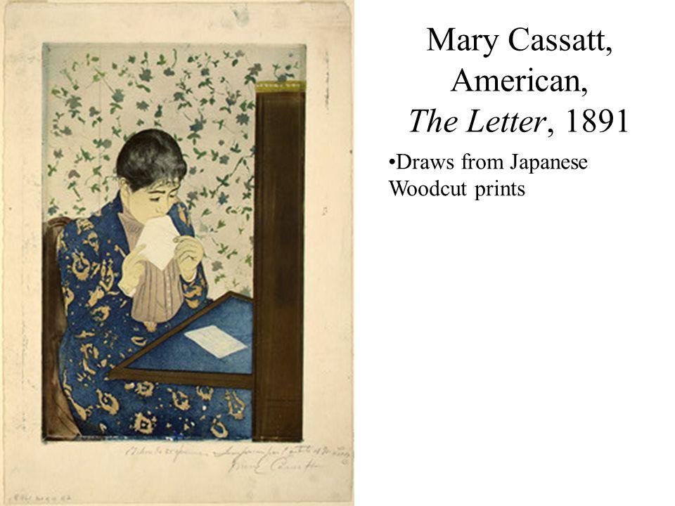 Mary Cassatt, American, The Letter, 1891