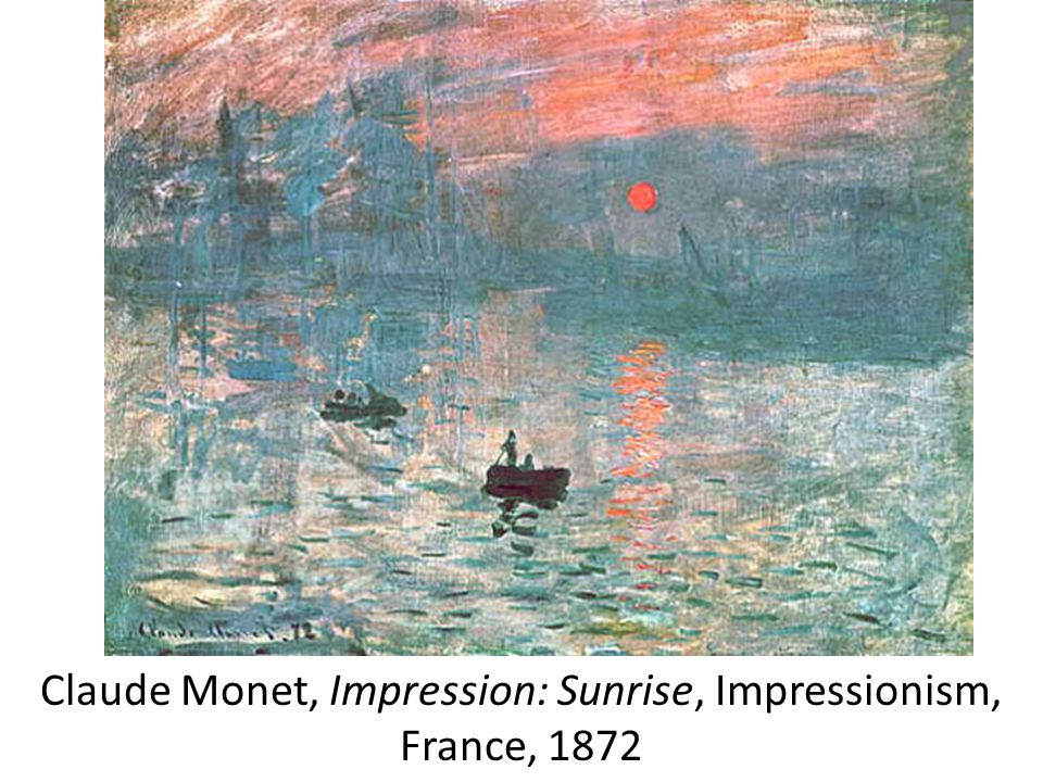 Claude Monet, Impression: Sunrise, Impressionism, France, 1872