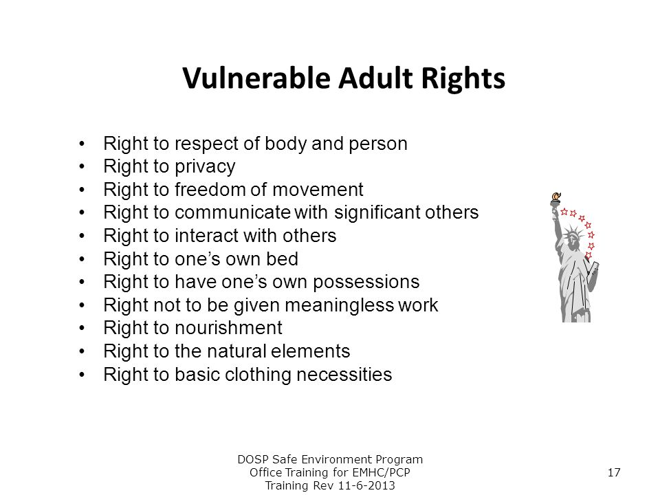 Vulnerable Adult Rights