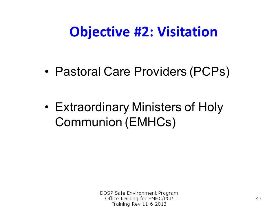 Objective #2: Visitation