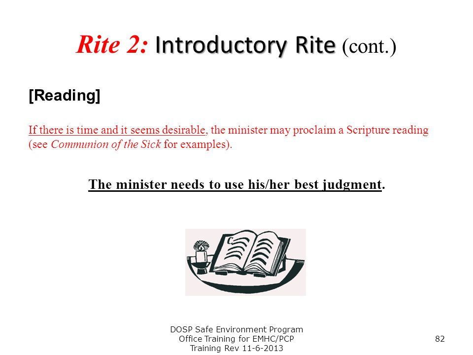 Rite 2: Introductory Rite (cont.)