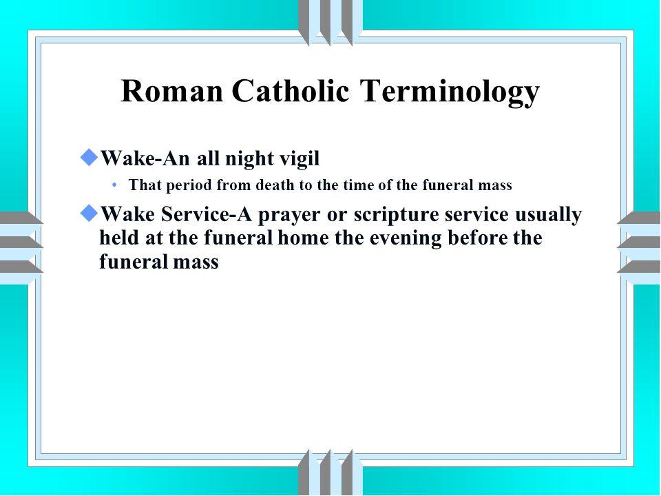 Roman Catholic Terminology