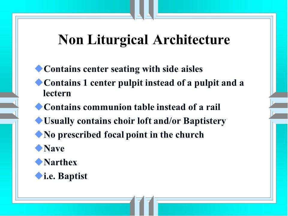 Non Liturgical Architecture