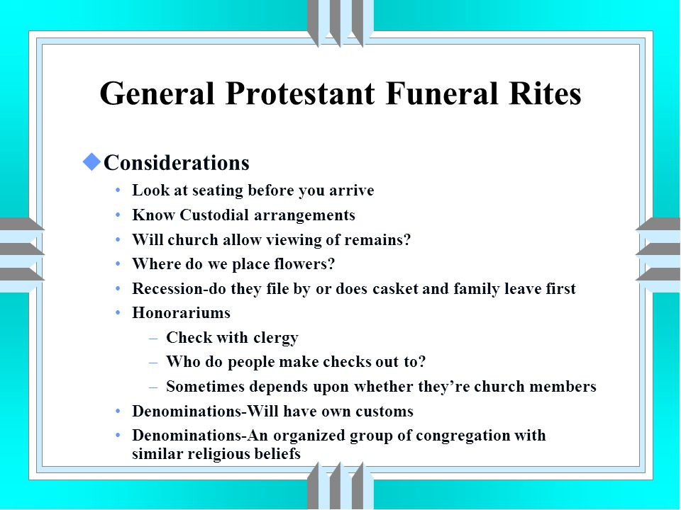General Protestant Funeral Rites