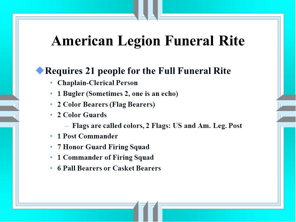 American Legion Funeral Rite