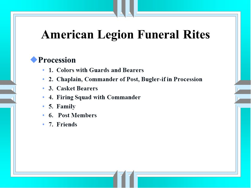 American Legion Funeral Rites