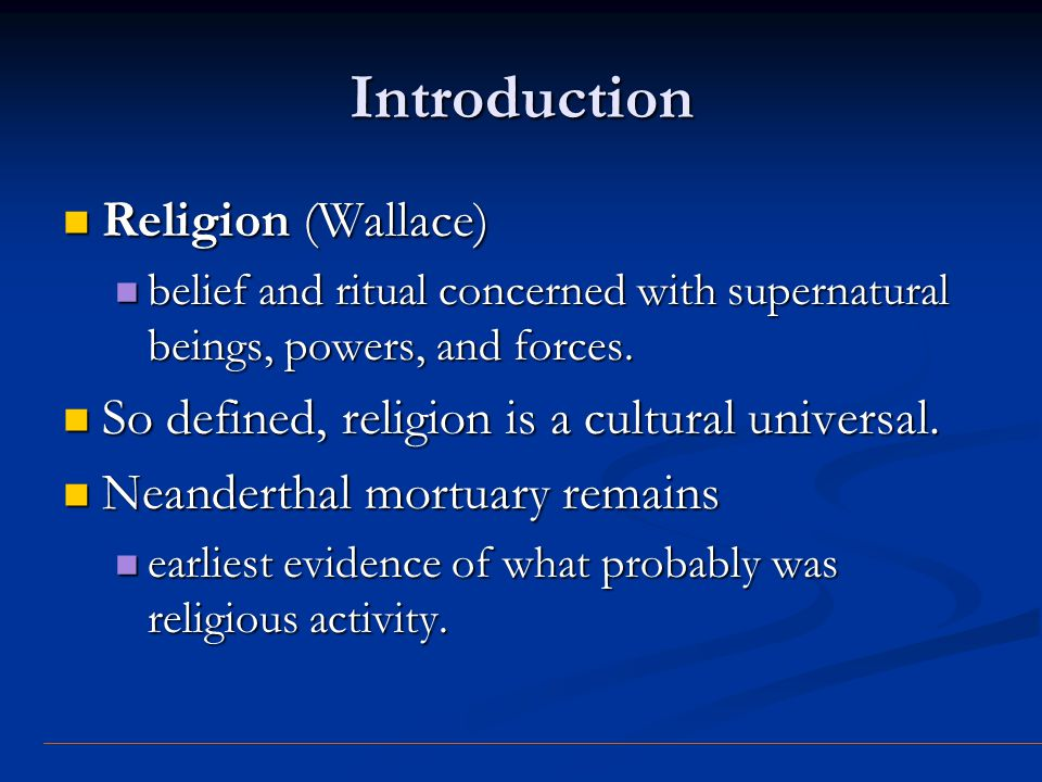 Introduction Religion (Wallace)