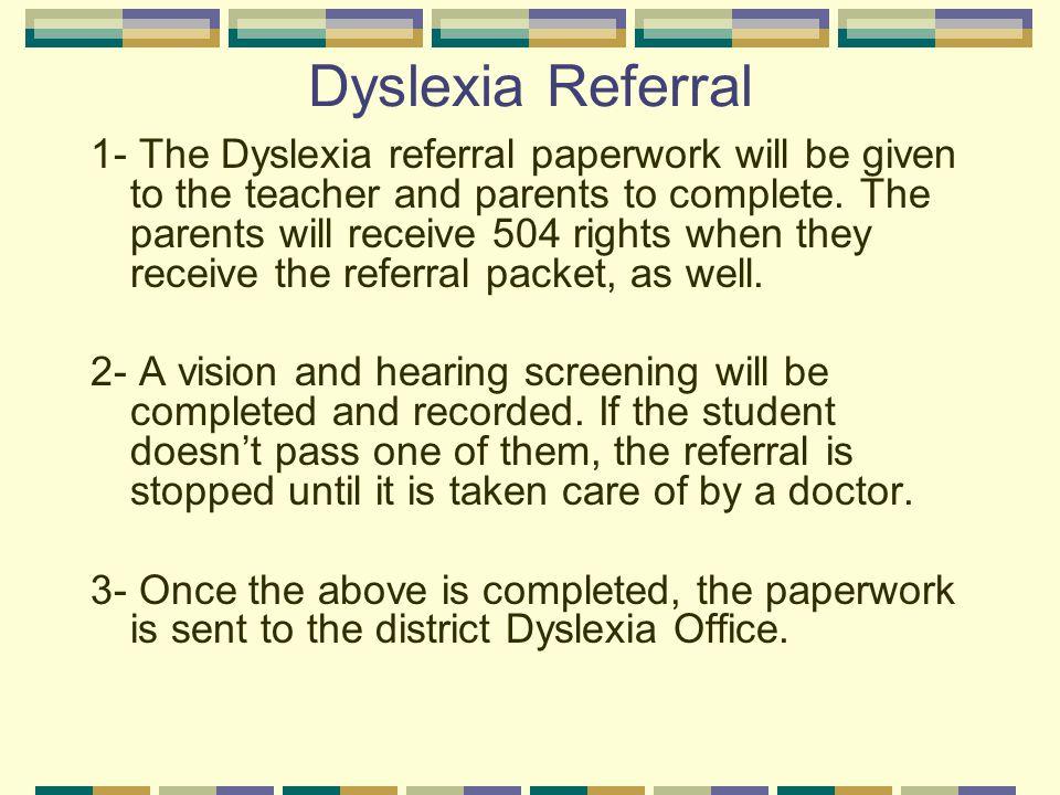 Dyslexia Referral
