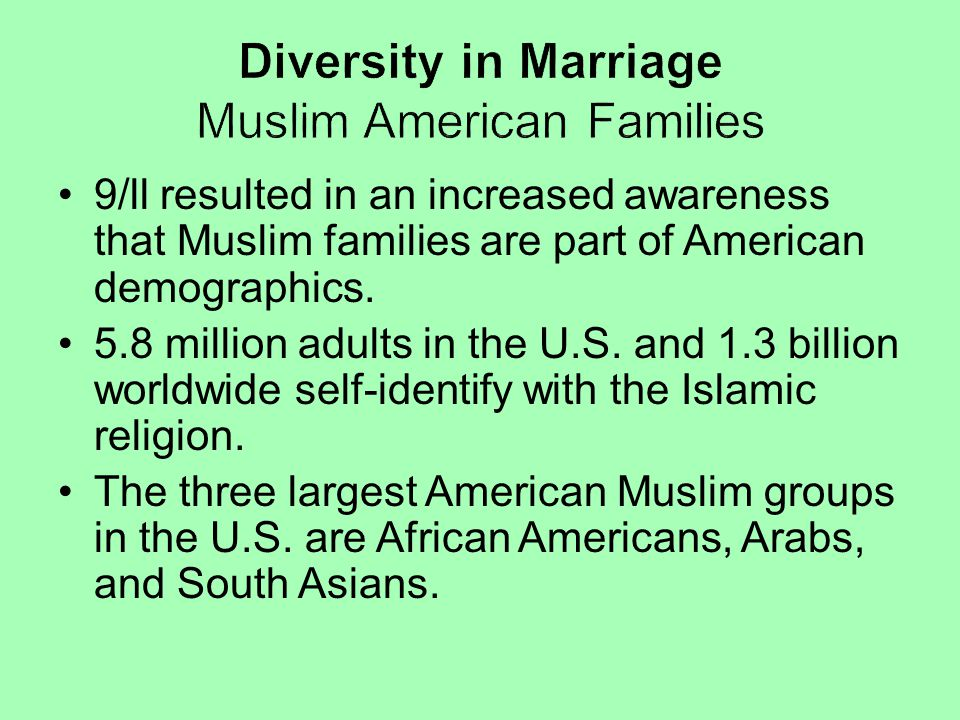 Diversity in Marriage Muslim American Families