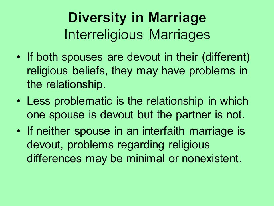 Diversity in Marriage Interreligious Marriages