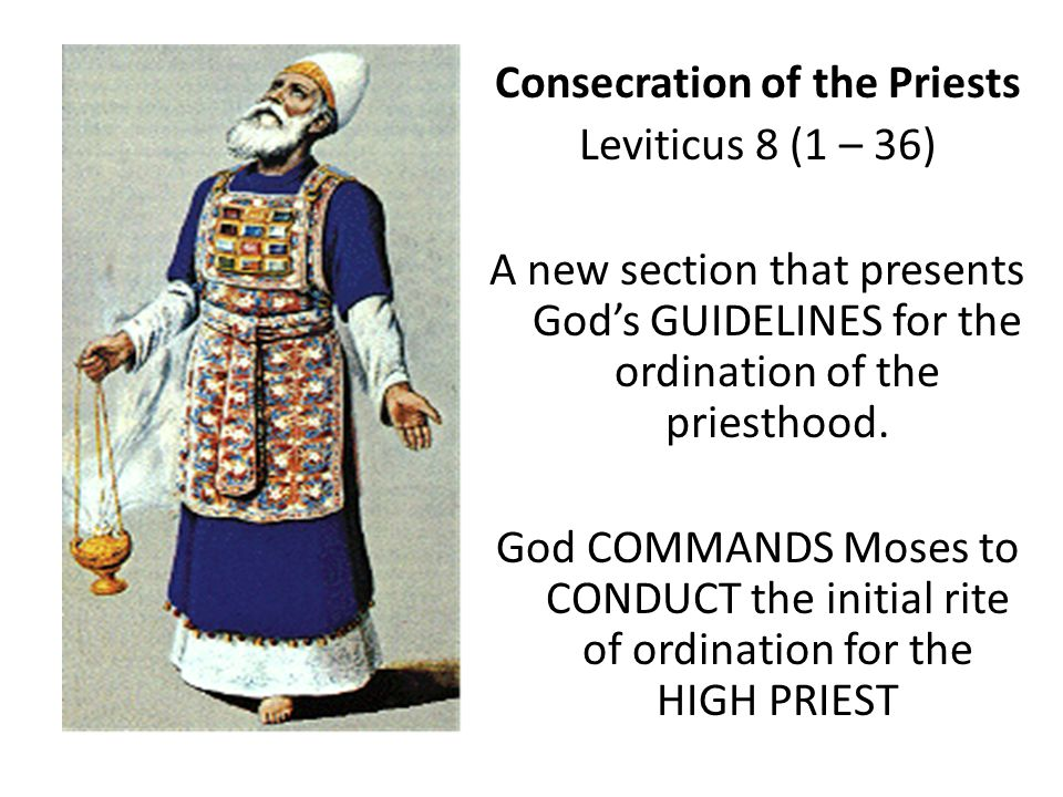 Consecration of the Priests