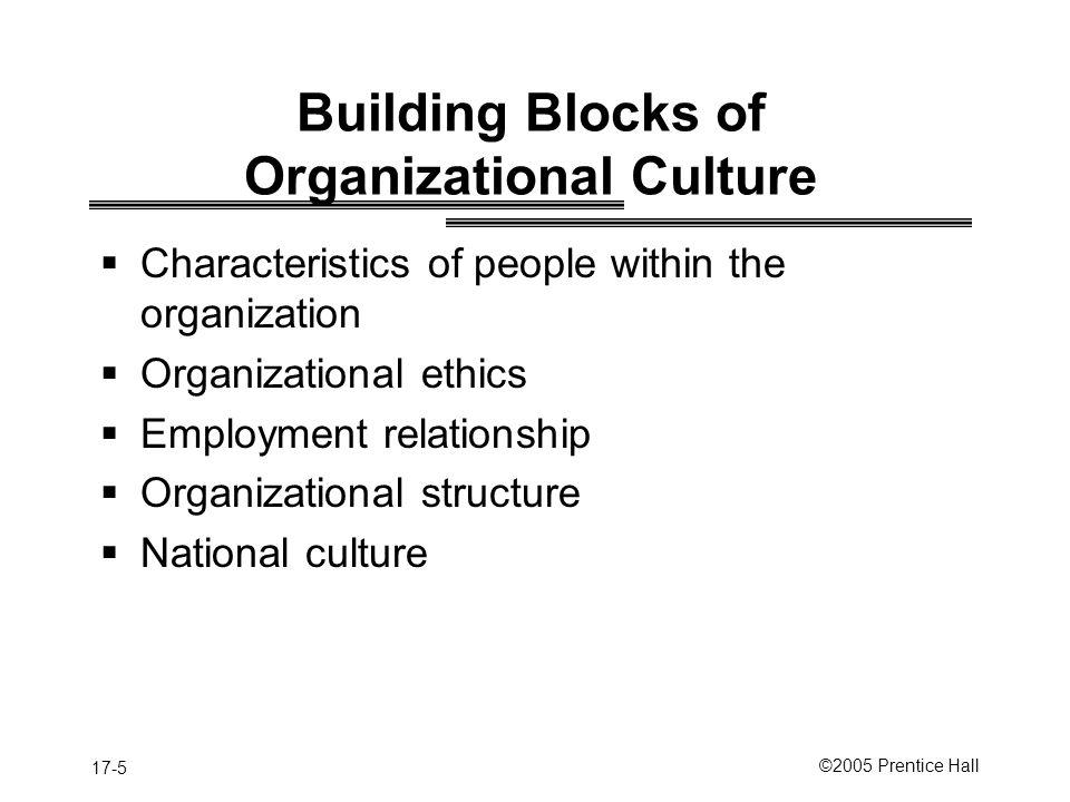 Building Blocks of Organizational Culture