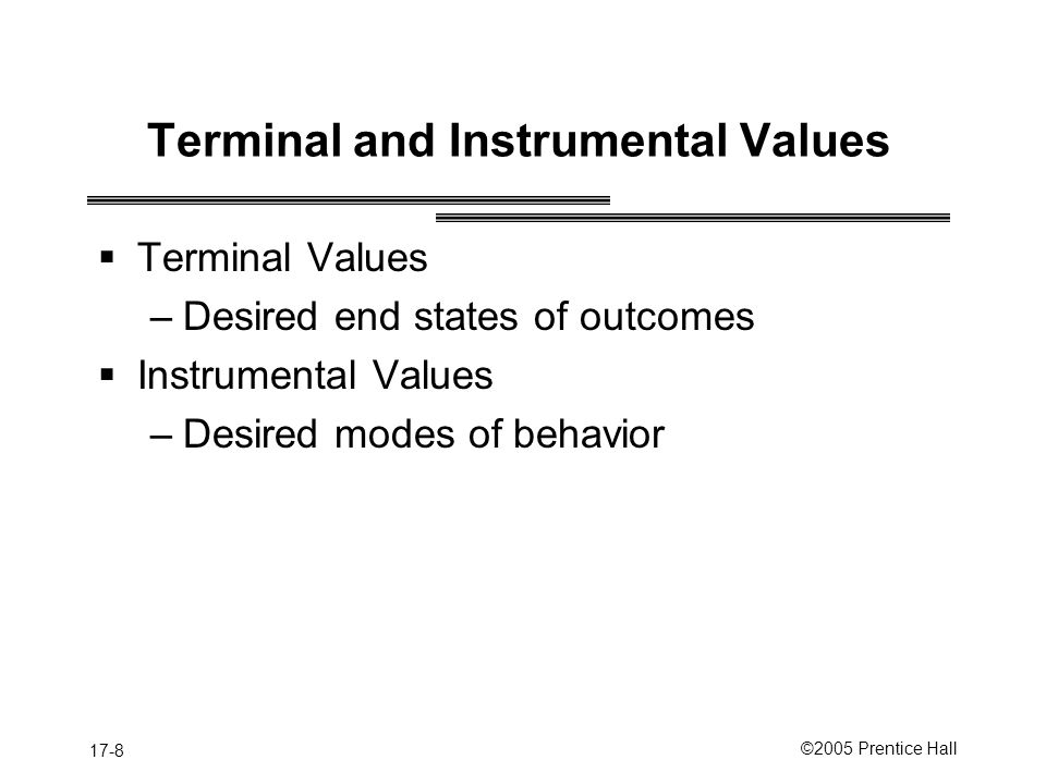 Terminal and Instrumental Values
