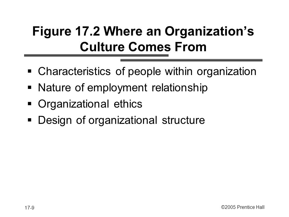 Figure 17.2 Where an Organization's Culture Comes From