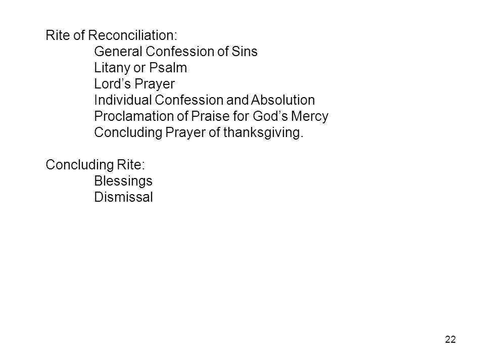Rite of Reconciliation: