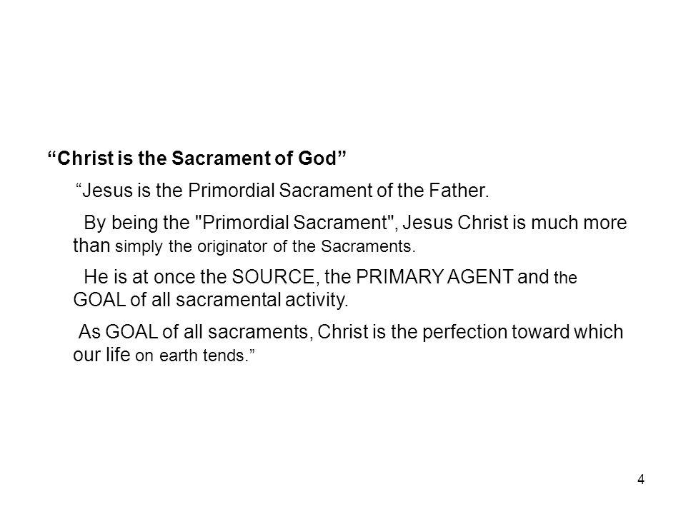Christ is the Sacrament of God