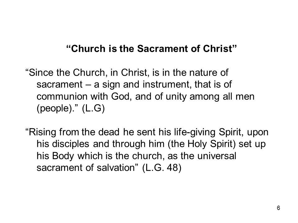 Church is the Sacrament of Christ
