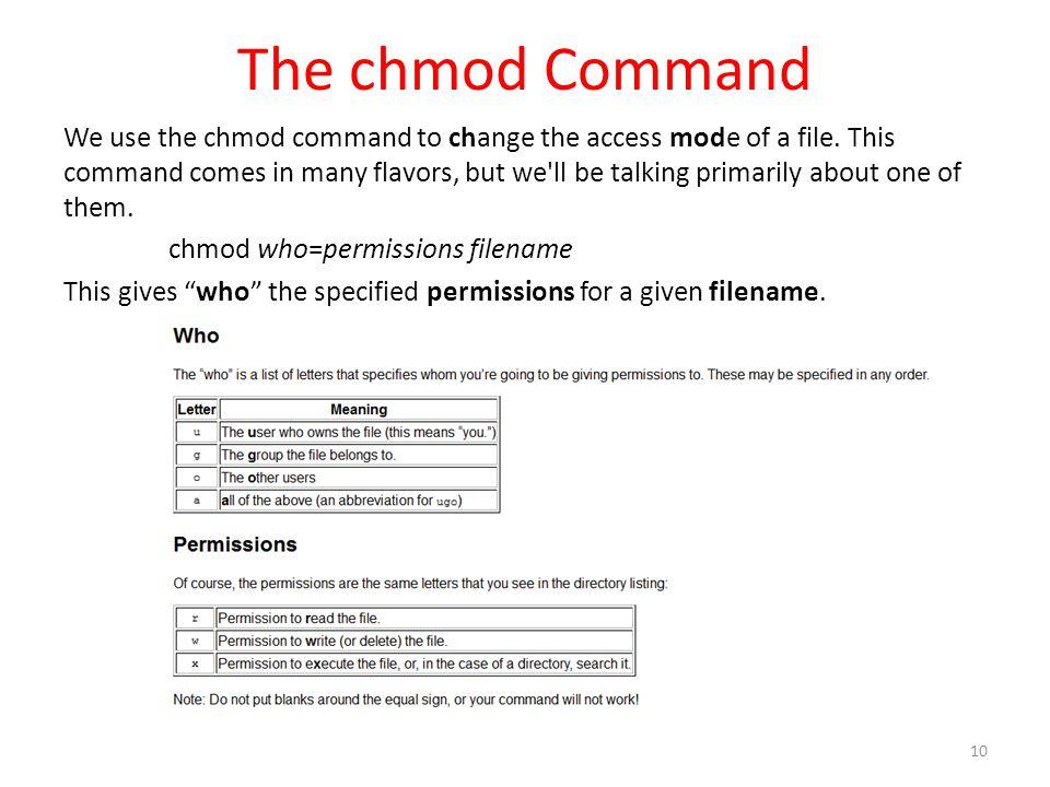 The chmod Command