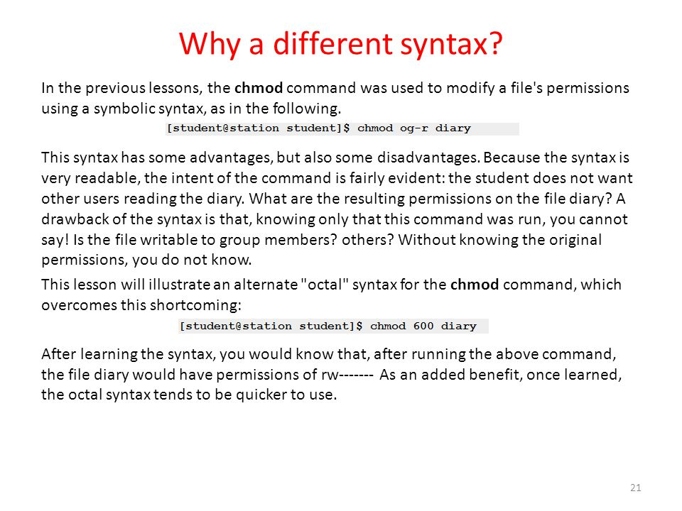 Why a different syntax
