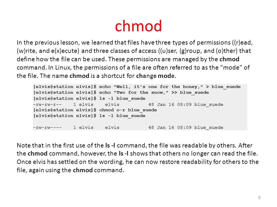 User and Group permissions, with chmod, and Apache