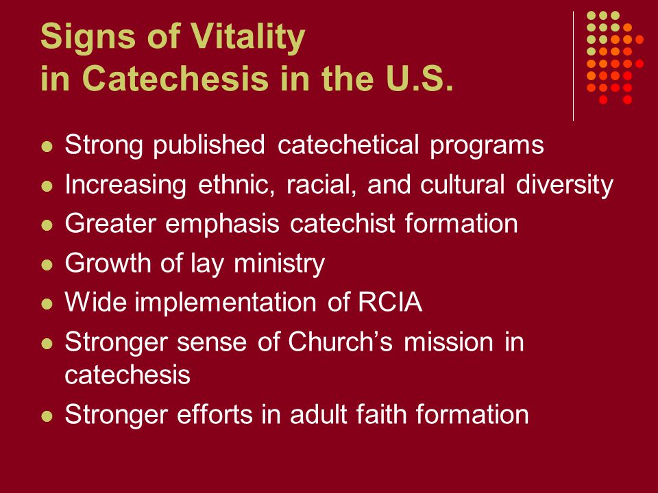 Signs of Vitality in Catechesis in the U.S.