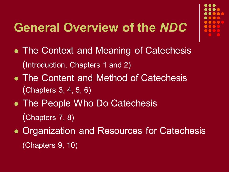 General Overview of the NDC