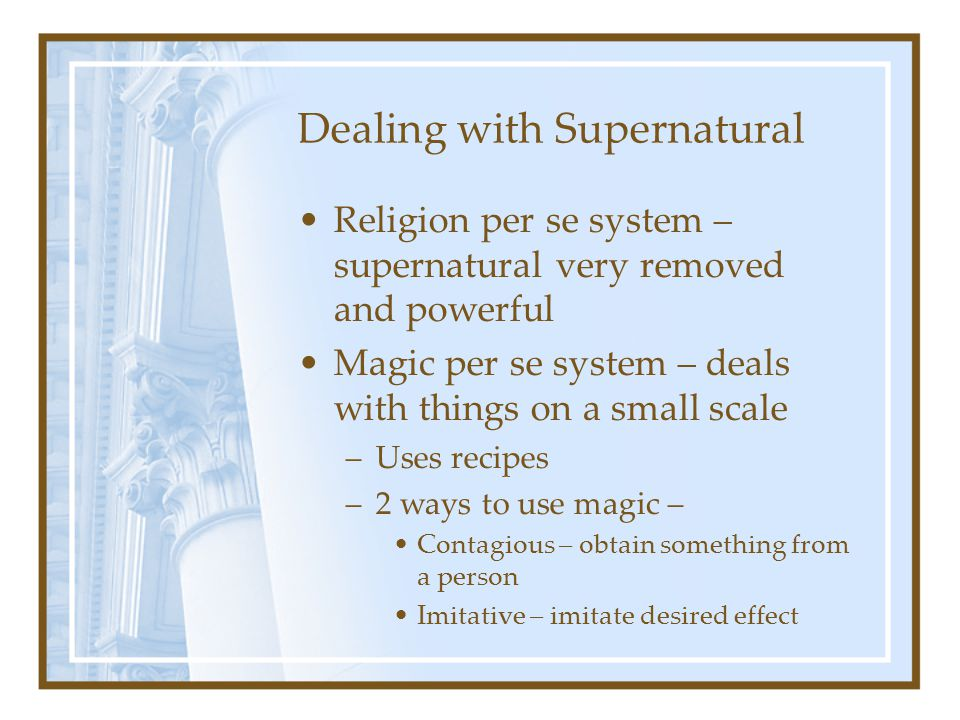 Dealing with Supernatural