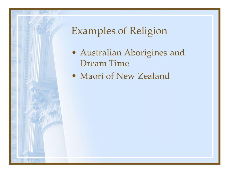 Examples of Religion Australian Aborigines and Dream Time