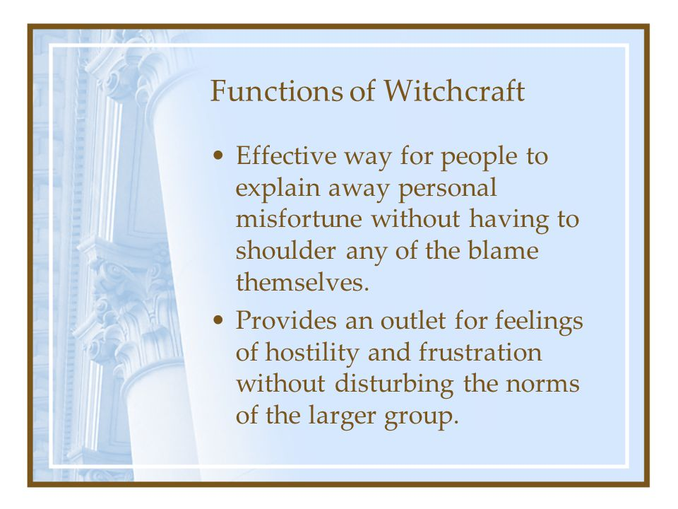 Functions of Witchcraft