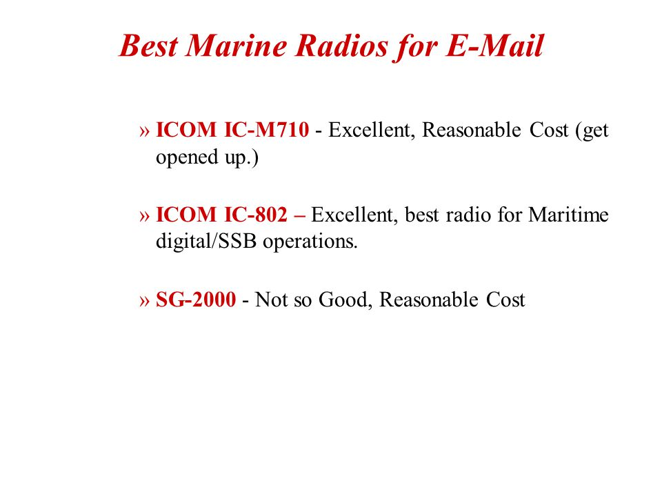 Best Marine Radios for E-Mail