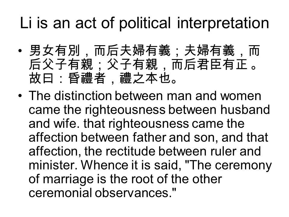 Li is an act of political interpretation