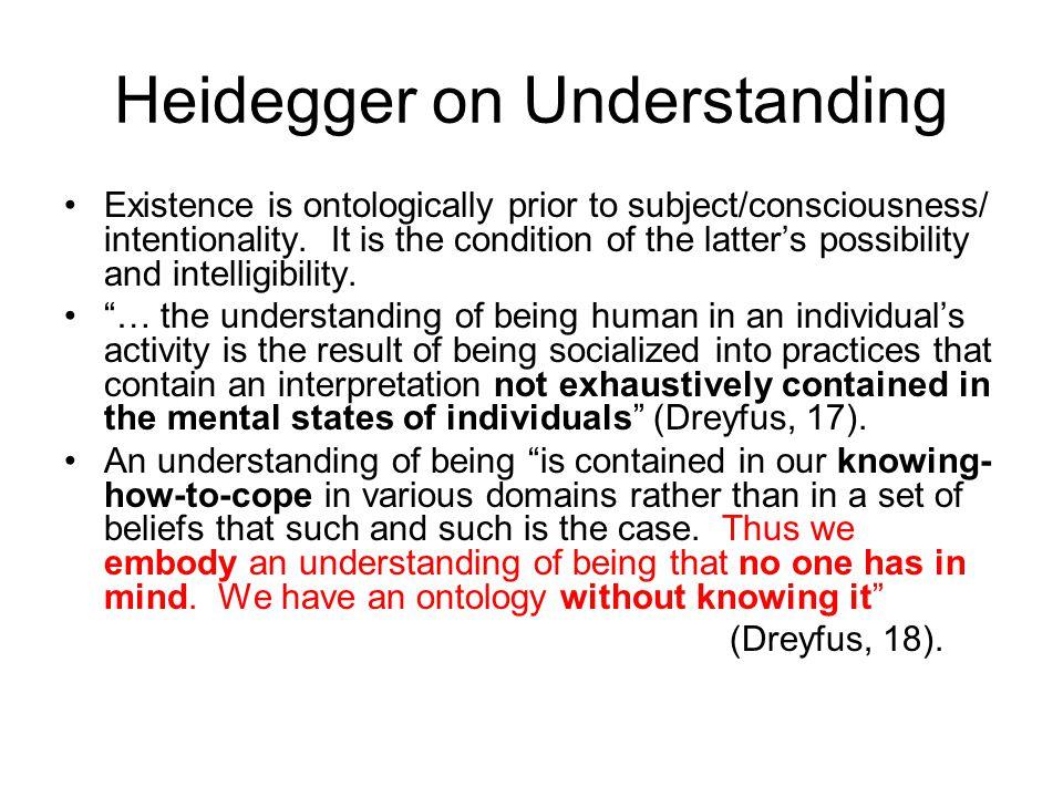 Heidegger on Understanding