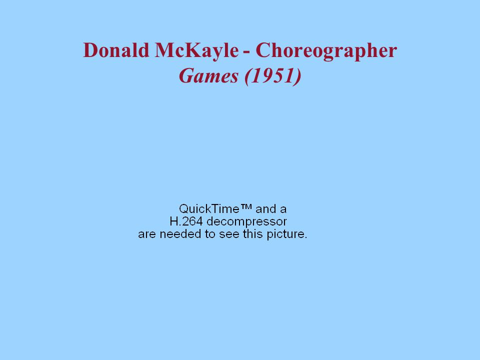 Donald McKayle - Choreographer Games (1951)